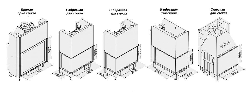 Камины под заказ по индивидуальным размерам производства Россия